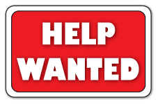 DJ Help Wanted Sign
