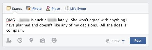 FB Wedding Post