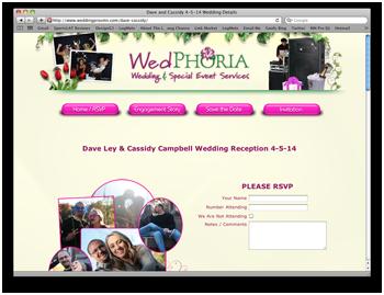 Wedding web Page